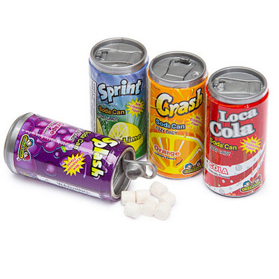 Soda can candy